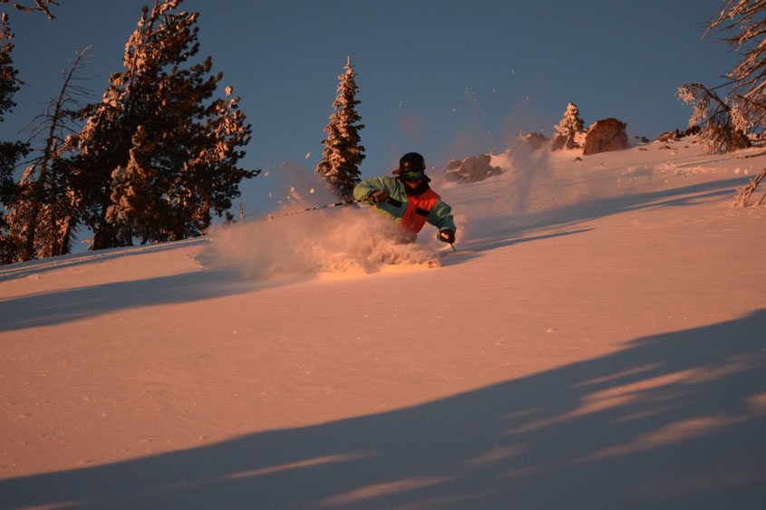 Jed Kravitz Skiing in Alpine Meadows