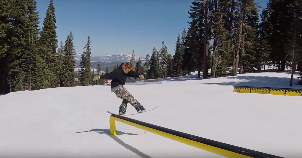 Snowboarder Devan Peeters Greases 25 Features in 3 Minutes at Northstar | Snowledge