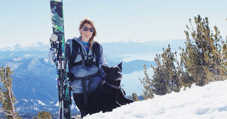 Snowledge Ambassador Kenzie Morris with her Dog Blue | Facing Fear and Moving Mountains