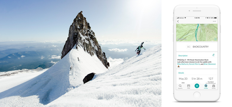 Kenzie Morris Hiking Above Illumination Rock on Mt. Hood | Snowledge