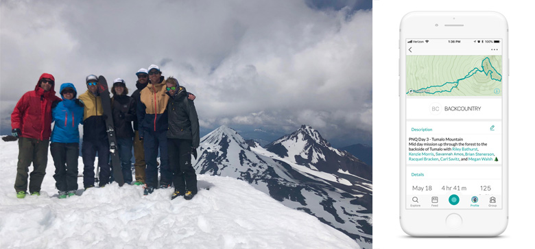 The Snowledge Crew at the Summit of South Sister   Snowledge
