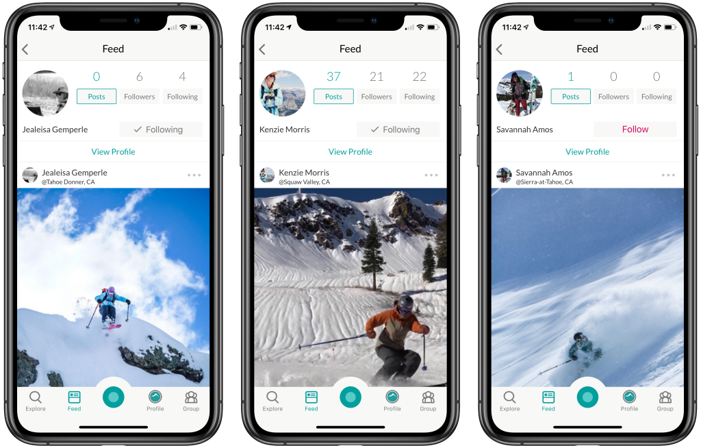 snowledge ski tracking app screen shots