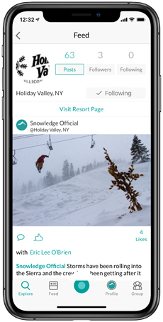 Holiday Valley Snowledge Feed