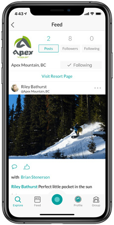 APEX Mountain Snowledge Feed