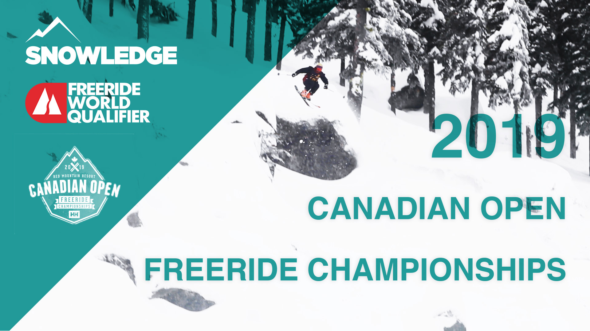 2019 Canadian Open freeride championships red mountain snowledge app video coverage
