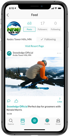 Andes Tower Hills Snowledge Feed