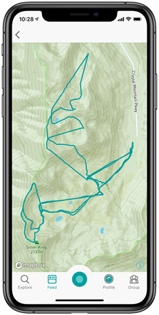 Crystal Mountain 4* FWQ Snowledge Tracking Screen