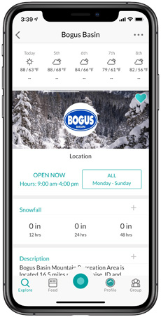 Bogus Basin Snowledge Resort Page