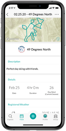 Snowledge Activity Summary | 49° North Mountain Resort