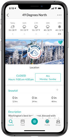 49° North Mountain Resort Snowledge Feed
