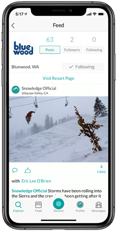 Bluewood Snowledge Feed