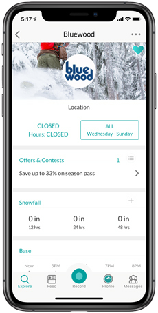 Bluewood Snowledge Resort Page