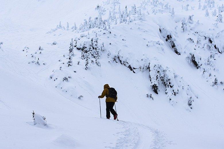 ski touring the eaglcrest side country in Juneau alaska